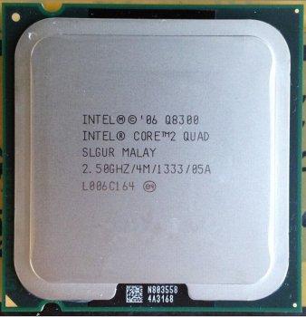 Б/У, Процесор, Intel Core 2 Quad Q8300 4 МБ, 2,50 GHz, 1333 GHz
