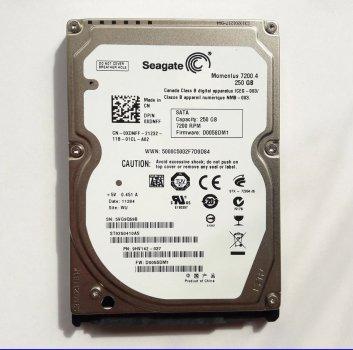 """Б\У Жорсткий диск для ноутбука, SATA 2,5"""", 250GB, Seagate, ST250LM034"""