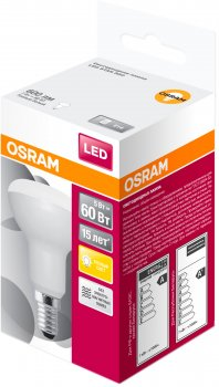 Світлодіодна лампа Osram LED STAR R50 7 W (600 Lm) 3000 K E14 (4058075282544)
