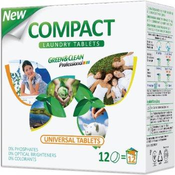 Таблетки для стирки Green&Clean Compact для белой и цветной одежды 12 шт (4823069702458)