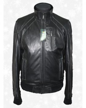 Куртка чоловіча шкіряна Verona 97_1 Чорний
