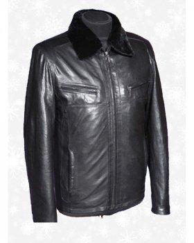 Куртка мужская кожаная Verona 27_3 Черный