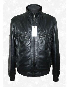Куртка чоловіча шкіряна Verona 8_2 Чорний