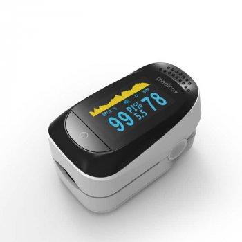 Японский портативный Пульсоксиметр на палец Medica-plus Cardio control 7.0 Высокоточный Japan technology Гарантия 24 месяца Белый