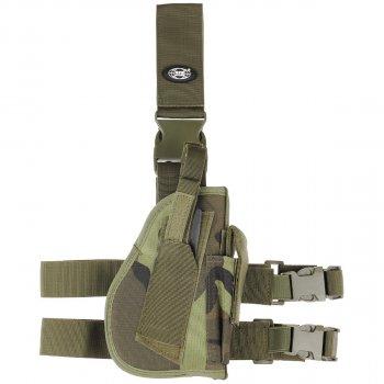 Кобура для пистолета набедренная регулируемая правосторонняя MFH чешский камуфляж M95 (30725J)