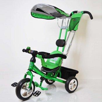 Трех-колесный Велосипед с родительской ручкой Sigma Lex-007 (10/8 EVA wheels) Green