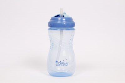 Пляшка-непроливайка з соломинкою 360 мл, від 9міс. Lindo голуба LI127