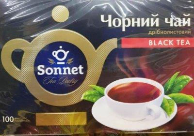 Чай черный Sonnet English Breakfast 100 пакетов в индивидуальной упаковке (4820082700645)