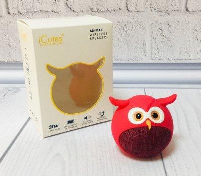 Bluetooth колонка iCutes для дітей, Сова, червона, (MB-M916)