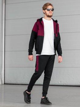 Чоловічий спортивний костюм BERSENSE DOUBLE бордовий, 170