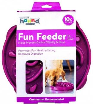 Миска-лабіринт для собак Outward Hound Фан Фідер Квітка Велика Фіолетова (oh51003)