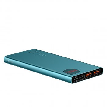 УМБ Baseus Adaman 10000mAh 22.5 W з технологією QC3.0+PD3.0 Синьо-Зелений