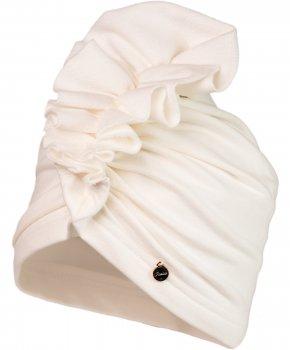 Демисезонная шапка-тюрбан Jamiks LANDONA-5 46 см Кремовая (5903024100822)