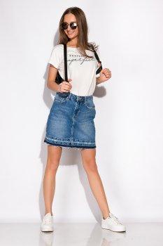 Спідниця джинсова Time of Style 148P084 Світло-синій
