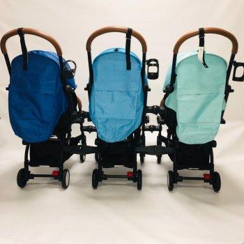 Коляска для трійні YOYA 175А+2020, колір Синій, Бірюзовий, Блакитний