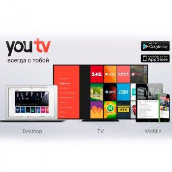 """Пакет YouTV """"Максимальний"""" 240+ ТВ каналів на 3 місяці"""
