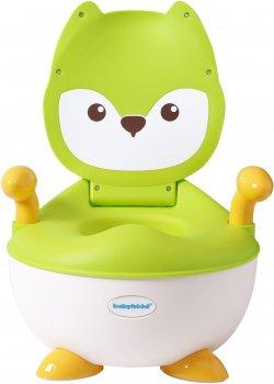 Детский горшок Babyhood Лисица зелёный (BH-113LG) (6923149603670)