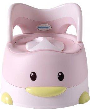 Детский горшок Babyhood Утёнок с полиуретановым кольцом розовый (BH-114PU) (6923149603762)