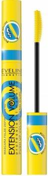 "Тушь для ресниц ""Эффект пуш-ап х10"" Eveline Cosmetics Extension Volume Mascara False Definition 4D Push Up Volume and Curl Mascara"