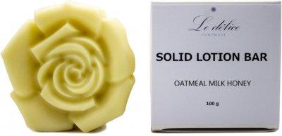 Натуральный твердый лосьон для тела Le Delice Овсянка Молоко Мед 100 г (1187251202320)