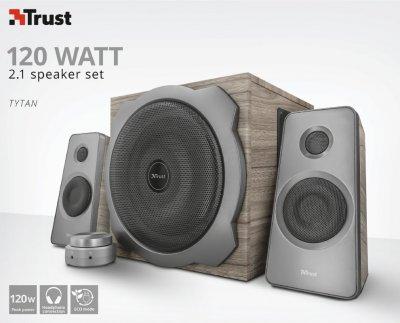 Комплект акустики 2.1 Trust Tytan Speaker Set Wood