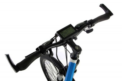 "Электровелосипед складной E-motion 36V 12Ah 500W / алюминиевая рама 17"" / бело-голубой (ESE3612500A17BG)"