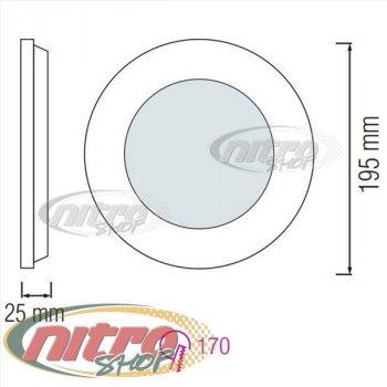 Світильник світлодіодний вбудований Horoz Electric Slim-15 15Вт(~120 Вт) 2700К круглий (056 003 0015)