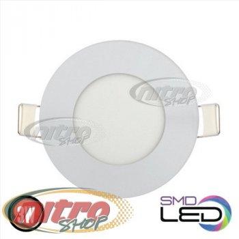Світильник світлодіодний вбудований Horoz Electric Slim-3 3Вт(~24 Вт) 6400К круглий (056 003 0003)