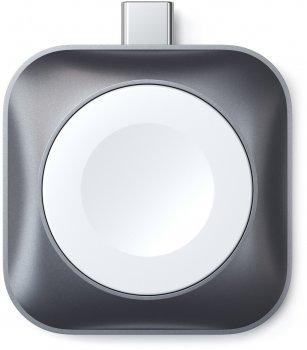 Беспроводное зарядное устройство Satechi Type-C Magnetic Charging Dock for Apple Watch Space Gray (ST-TCMCAWM)
