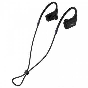 Наушники беспроводные вакуумные для спорта с микрофоном гарнитура Bluetooth Remax Sports RB-S19 Черные