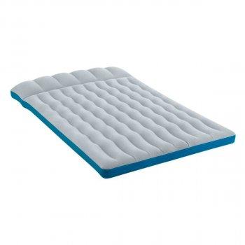 Полуторный надувной матрас Intex 67999 127х193х24 см 170 кг Серый (12126)