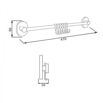Крючок для ванной GF (CRM)/S-2914-6 настенный