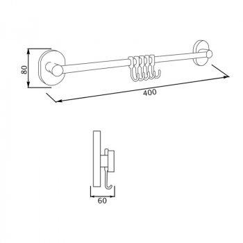 Крючок для ванной GF (CRM)/S-2914-5 настенный