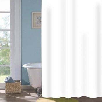 Шторка для душу Мій Дім Snowwhite 180х200 см біла (11861241)