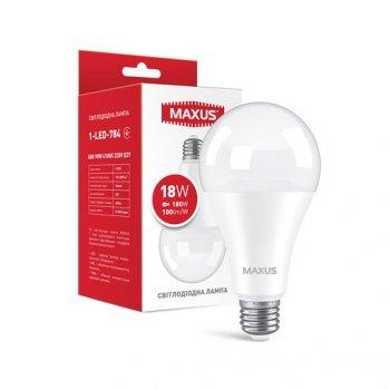 Лампа Maxus LED A80 18W 1800LM 4100K E27 (11983461)