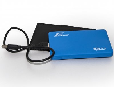 "Внешний карман Frime SATA HDD/SSD 2.5"", USB 3.0, Soft touch, Blue (FHE31.25U30)"