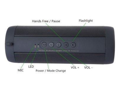 Bluetooth-Динамік BauTech T2 водонепроникний TF карти FM Hi-Fi портативна колонка Чорний (1006-378-00)