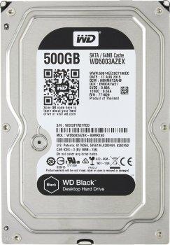"""Жорсткий диск WD 3.5"""" SATA 3.0 0.5 TB 7200 64MB Black"""