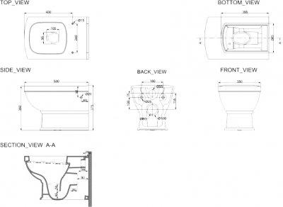 Унітаз підвісний DEVIT Retro зі сидінням Soft Close дюропласт 3020127