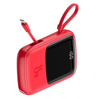 УМБ Baseus Q Pow 10000mAh 15W 3A з технологією QC3.0+PD3.0 і iP кабелем Червоний