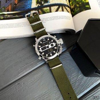 Годинники чоловічі Megalith 8051M Green-Silver-Black