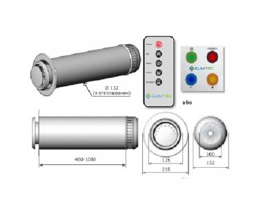 Рекуператор CLIMTEC РД-125 (Стандарт) Стеновой прит.выт. 7 реж. 50 Вт 60 м3 / ч 25 м2 38 дБ КПД по сохр. тепла 84% + пульт ДУ + Тен подогрева 130 Вт