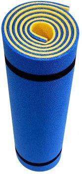 Килимок для фітнесу Champion двошаровий 1800х600х10 мм Жовто-синій (CH-4185)