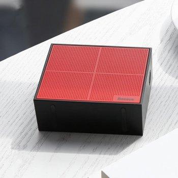 Акустическая система Baseus Encok Music-Cube Wireless Speaker E05 Red+ Black (NGE05-91)