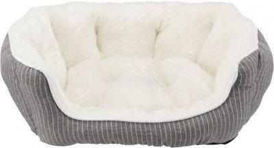 Лежак для собак і кішок Trixie Davin 60х45 см Сірий в смужку / кремовий (4011905389752)