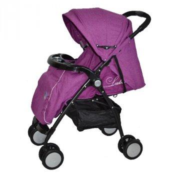 Детская прогулочная коляска-книжка Labona FK8111AB, фиолетовая