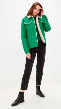 Куртка DASTI Denim Urban джинсовая женская на овчине зеленая (482DS20191699)