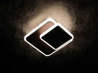 Світильник стельовий Led (6х15х15 див.) Коричневий (YR-8662/1S-cf-150+100-mg)