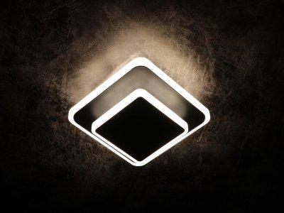 Світильник стельовий Led (6х15х15 див.) Чорний (YR-8662/1S-bk-150+100-mg)