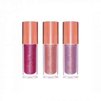 Набір помад для губ Lime Crime holiday glow mini plushies lip set 5.10 мл